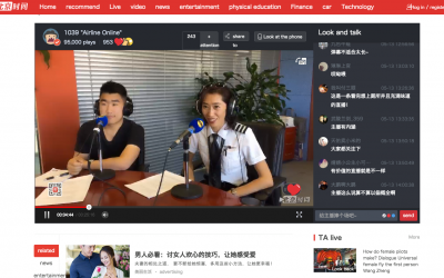 Chief instructor Julie Wang in the studios of FM1039 Beijing Radio